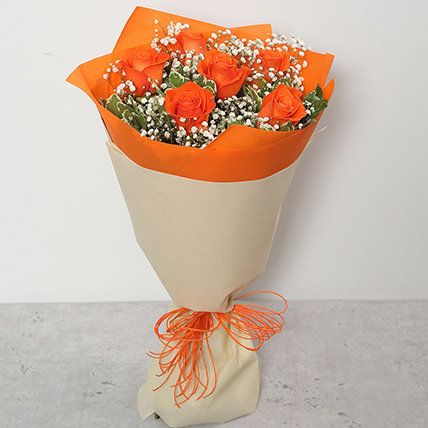 Bouquet Of Orange Roses:  Flower Bouquet