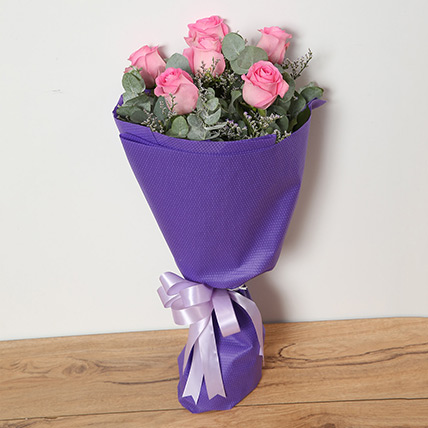 Bouquet Of Pink Roses: Flower Bouquet In Qatar