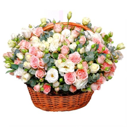 Basket Of Mesmerizing Flowers: Basket Arrangements