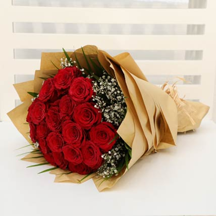 Bewitching Stems Red Roses: Hand Bouquets
