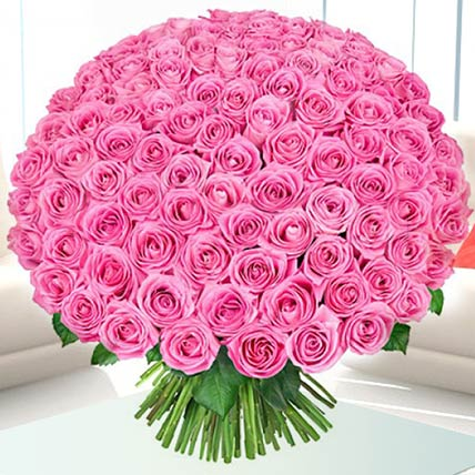 Delicate Pink Roses Bunch: Flower Bouquet In Qatar