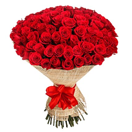 Elegant Red Roses Bouquet: Rose Flowers
