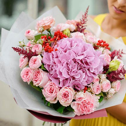 Graceful Bunch Of Flowers: Buy Mixed Flower