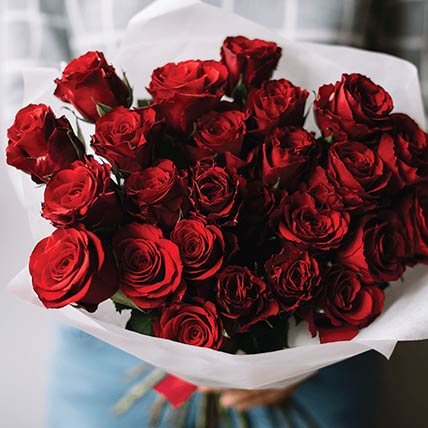 Luxury Red Roses Bouquet: Red Rose Flower