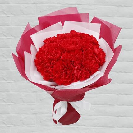 Red Carnations Bouquet: Carnation Flowers
