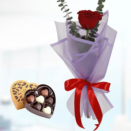 Red Rose Purple Wrap & Godiva Chocolates: Buy Chocolates
