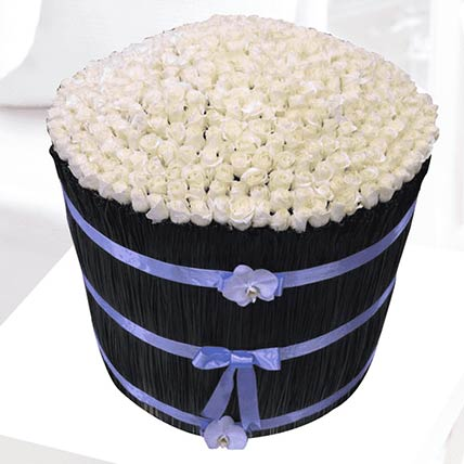 White Blooms Arrangement: Gift Shop in Qatar
