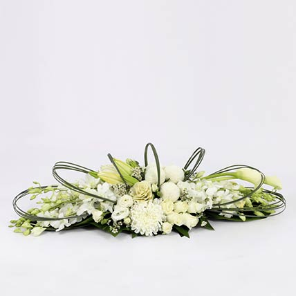 White Flower Themed Arrangement: orchid flowers bouquet