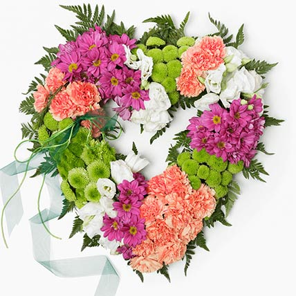 Beautiful Floral Heart: Carnation Flowers