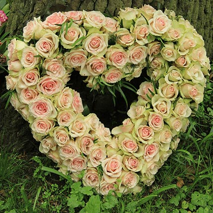 Belle Roses Heart Shaped Arrangement: Same Day Delivery Gifts