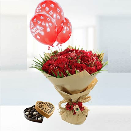 Birthday Wishes Flower Combo: Buy Chocolates
