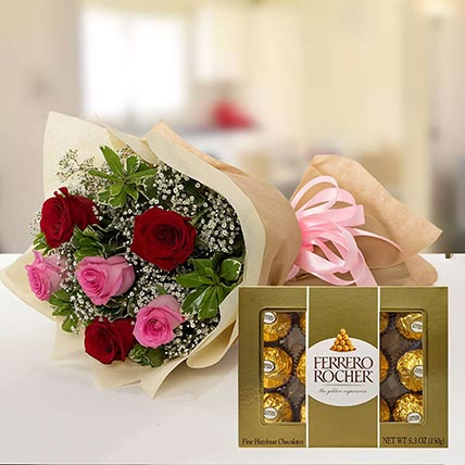Beautiful Roses & Ferrero Rocher: