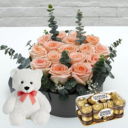 Ferrero Rocher & Roses Delight: Same Day Gift Delivery In Qatar