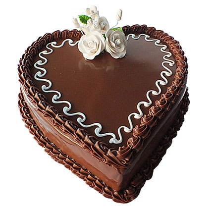 Choco Heart Cake: Send Chocolates Cakes to Qatar