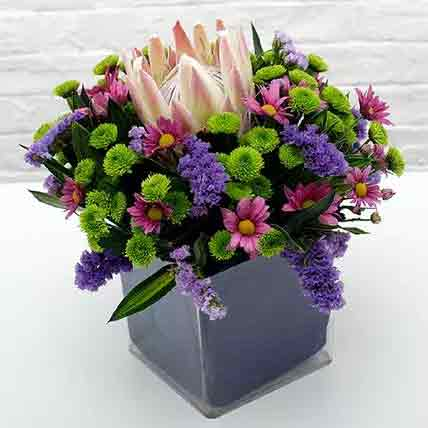 Exotic Flower Vase Arrangement: Lily Flowers