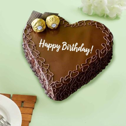 Happy Birthday Ferrero Chocolate Cake: Midnight Gifts Delivery