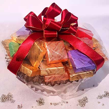 Elegant Assorted Chocolate Tidbits Gift Hamper: Gift Hamper Baskets