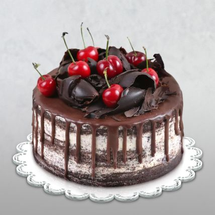 Delicate Black Forest Cake: Happy Birthday Cake