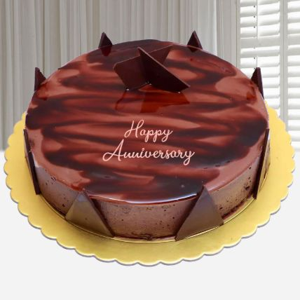 Anniversary Special Chocolate Ganache Cake: Send Cakes To Lusail