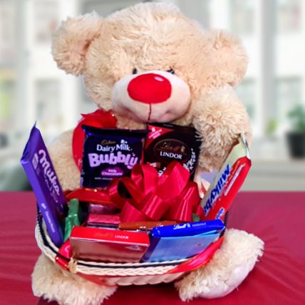 Teddy The Chocolate Man Hamper: Gift Hamper Baskets