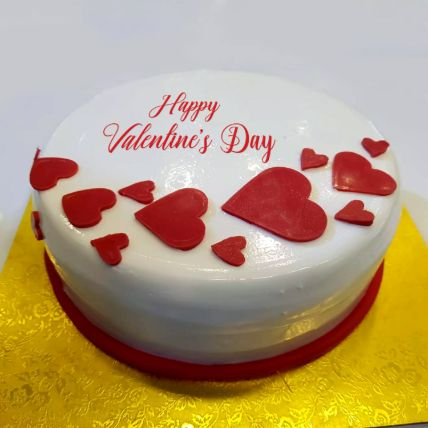 Fondant Hearty Cake: Valentines Day Cakes
