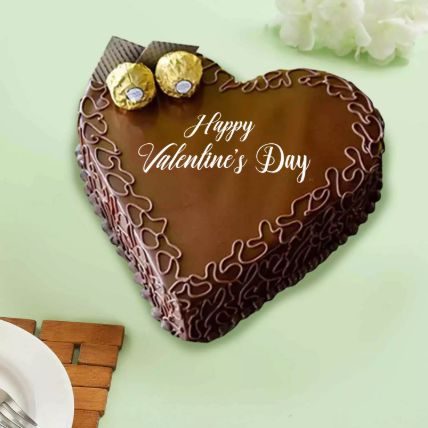 Lovely Heart Choco Cake: Valentines Day Cakes