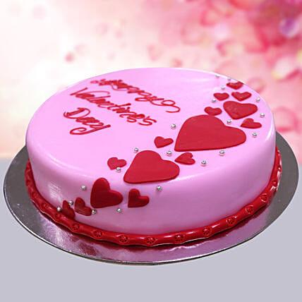 Chocolate Ganache Valentine Theme Cake: Valentines Day Gifts