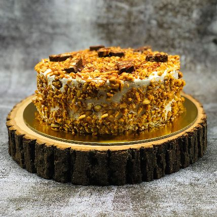 Crumbly Snickers Peanut Cake: Happy Mothers Day Cake