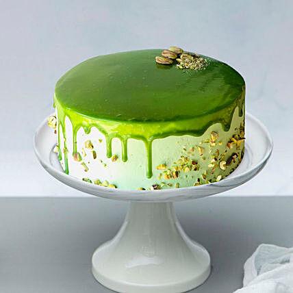 Go Green Pistachio Cake: Cake Delivery In Qatar