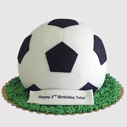 Football Shaped Cake: Designer cakes