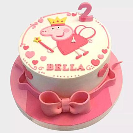 Peppa Pig Fondant Cake: Cartoon Cakes