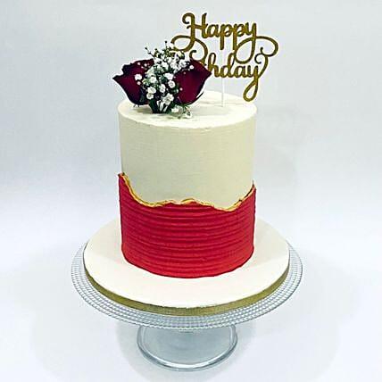 Designer Happy Birthday Cake: Happy Birthday Cake