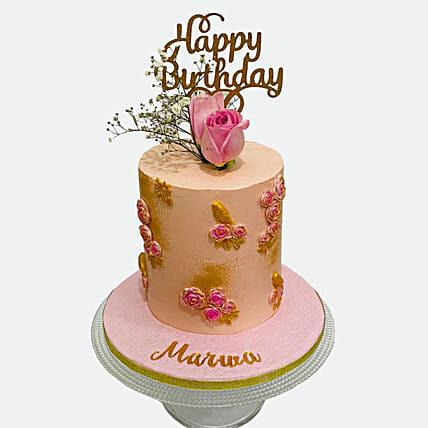 Rose Birthday Cake: Designer Cakes