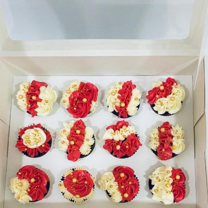 Yummy Flowery Cup Cakes: Eid Gifts