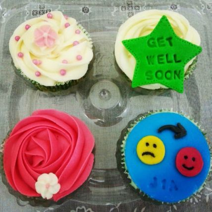 Get well Soon Cup Cakes: Cupcakes Delivery In Qatar