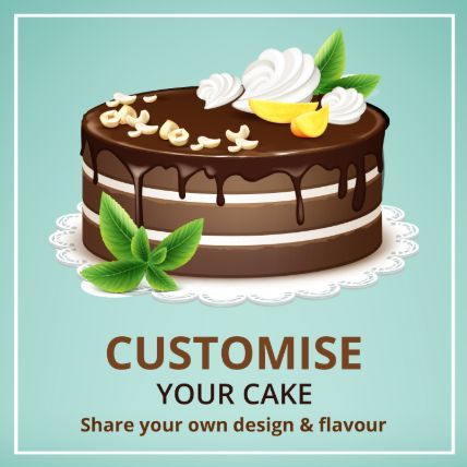 Customized Cake: Chocolate Cake