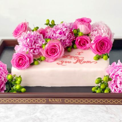 Loaded Flowery Cake: Designer cakes