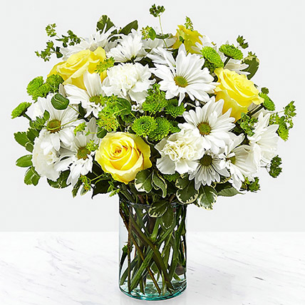 Vase Of Happy Flowers: Flowers Delivery Qatar