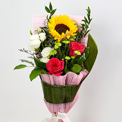 Splendid Mix Flowers Bouquet: Buy Sunflowers