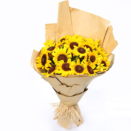 Sunny Hill 20 Sunflowers Bouquet: Buy Sunflowers