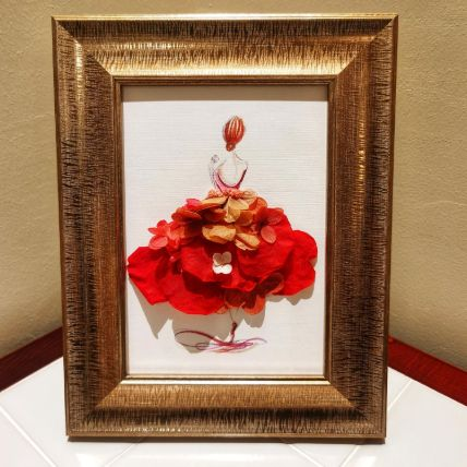 Flower Frame Art: