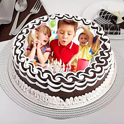 Eggless Birthday Celebrations Photo Cake: Buy Eggless Cakes In Qatar