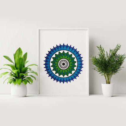 Shades Of Blue Frame: Home Decor Gifts