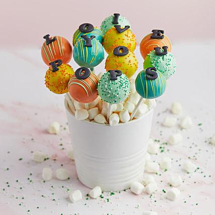 Pops Love Bouquet: DSRT LAB Cakes