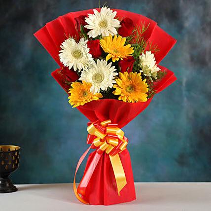 Mixed Elegance Gerbera Bouquet: