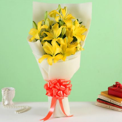 Sunshine For Love: Lily Flower Bouquet