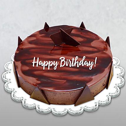 Happy Birthday Chocolate Ganache Cake: Birthday Gifts for Husband