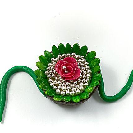 Flower Design Edible Rakhi Sweet: Rakhi