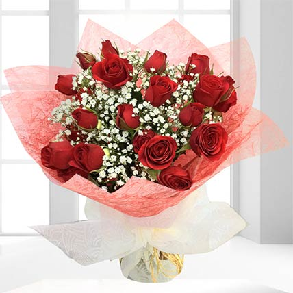 20 Fresh Red Spray Roses Bouquet