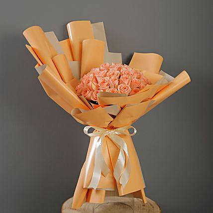 40 Stems Peach Roses Bouquet